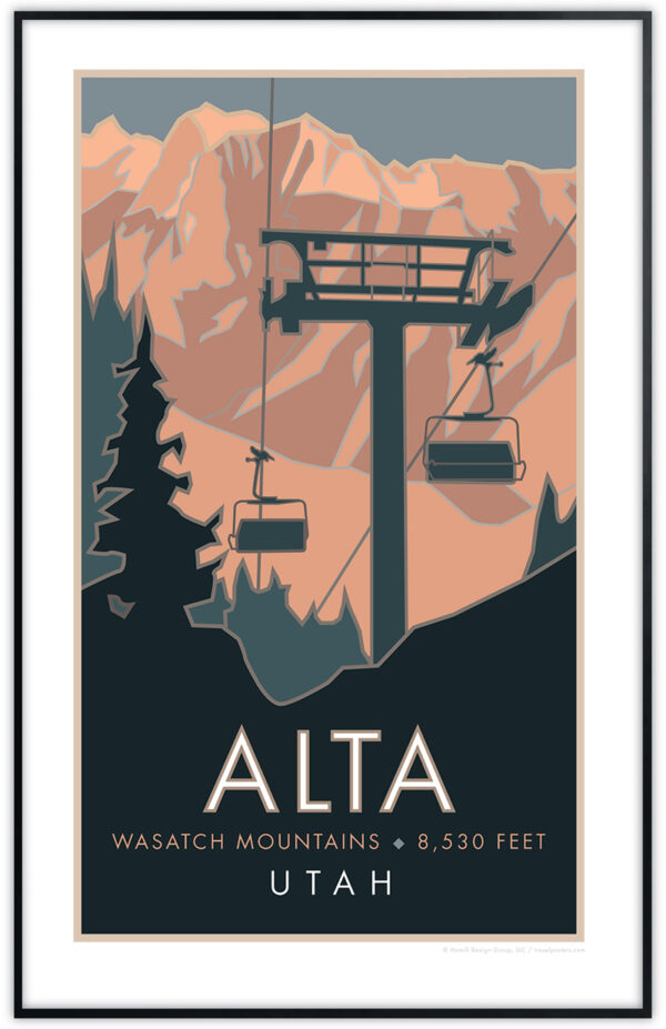 Alta, Wasatch Mountains framed poster
