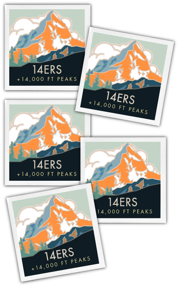 14ers ceramic coasters
