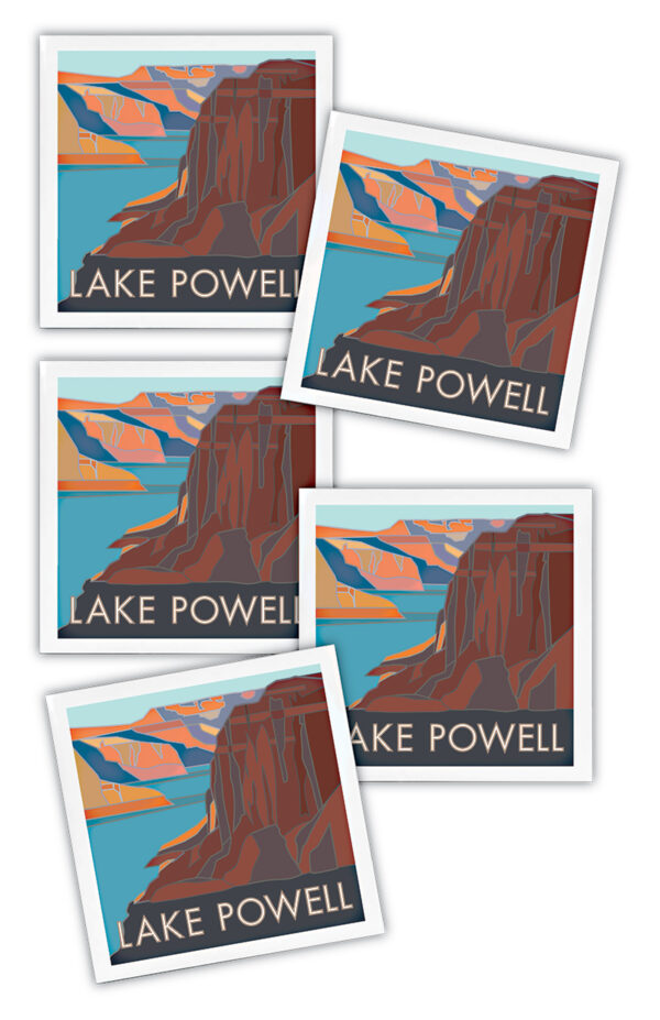 Lake Powell, Glen Canyon National Recreation Area ceramic coasters
