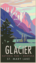 Glaicer St. Mary Lake Poster Thumbnail
