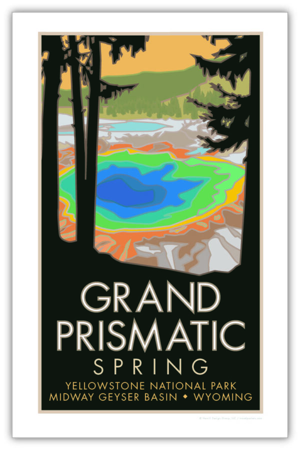 Yellowstone National Park Grand Prismatic Spring poster
