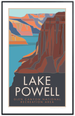 Lake Powell, Glen Canyon National Recreation Area framed poster