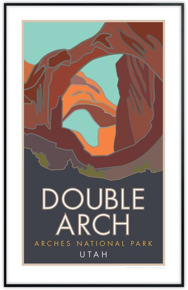 Double Arch, Arches National Park framed poster