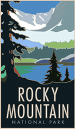 Rocky Mountain National Park poster thumbnail